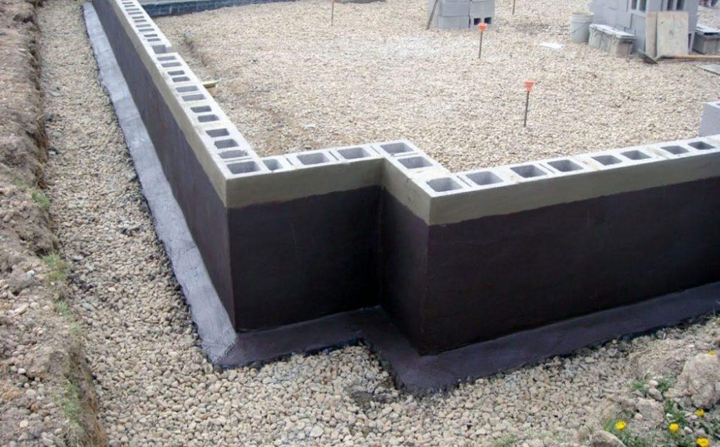 Ленточный фундамент из шлакоблоков