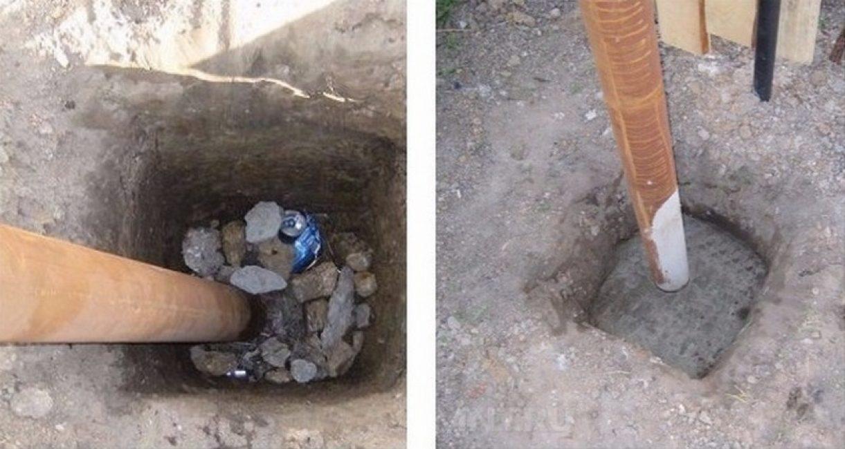 Бутование и бетонирование