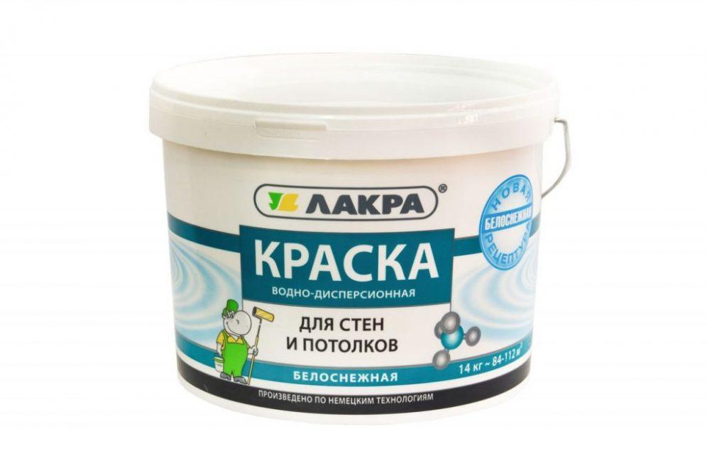 Краска росийского бренда «Лакра»