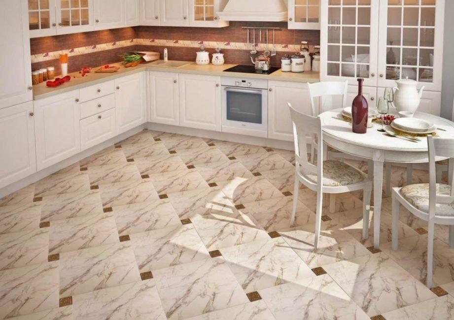 Напольная плитка кухни