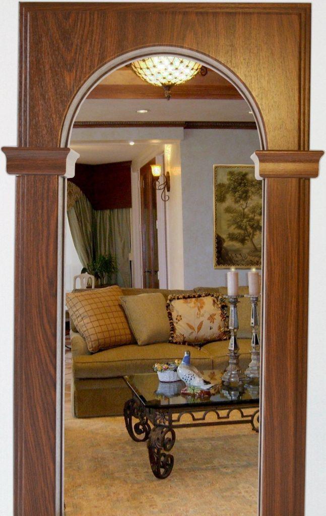 вне дома, готовые деревянные арки в дверной проем фото часто