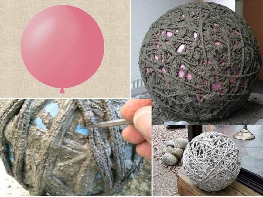 Плетеная сфера из веревок