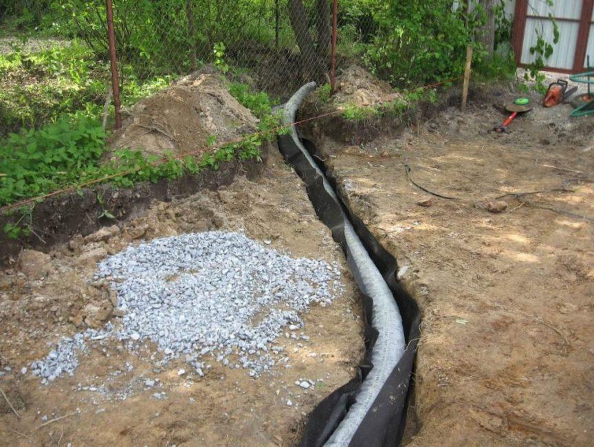 Соседская система дренажа сливает воду на ваш участок