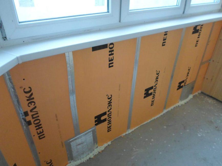 Пеноплекс как утеплить балкон изнутри своими руками