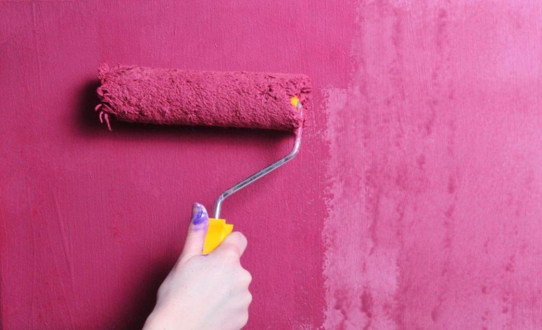 Смешивание красок на основе латекса