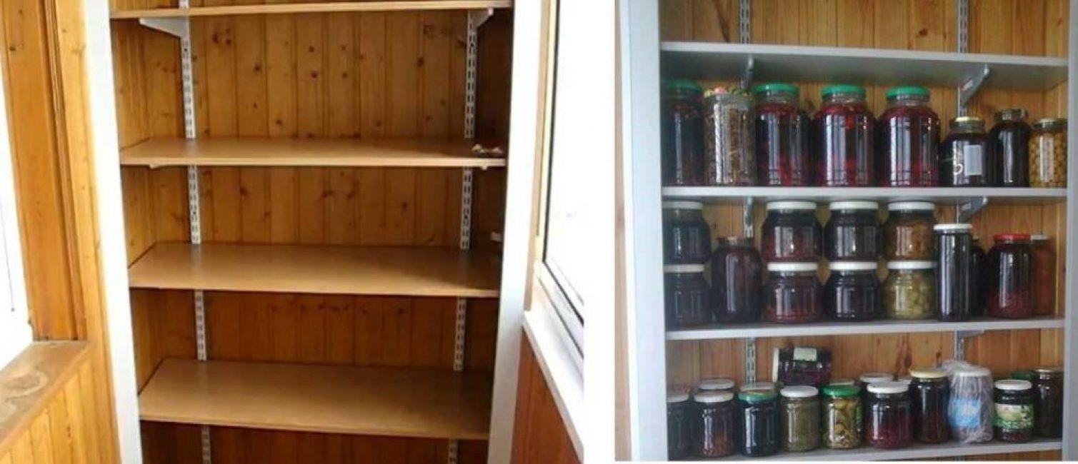 Магазинные кронштейны в балконных шкафах