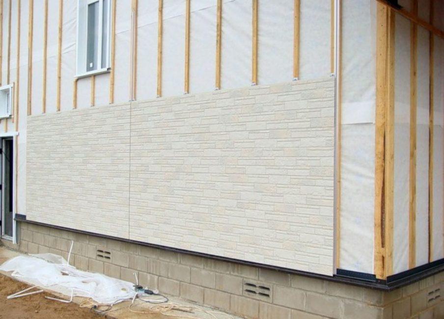 Монтаж вентиляционного фасада