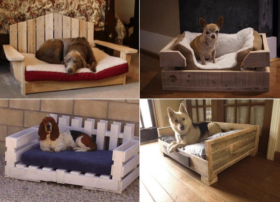 Деревянные кровати для собак