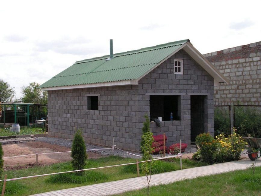Здание из шлакоблоков