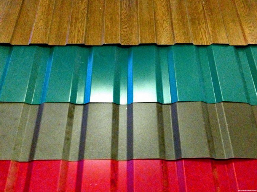 Цветовое разнообразие покрытия профнастила