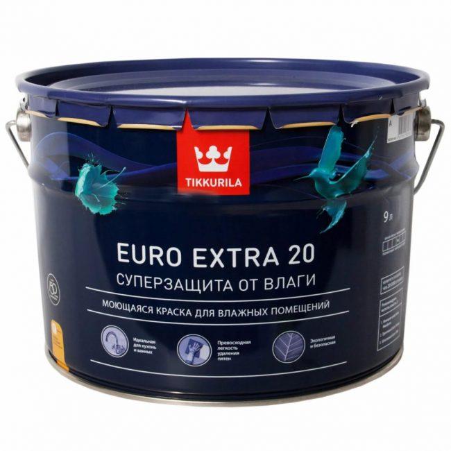 Tikkurila Euro Extra 20 (Силиконовая)