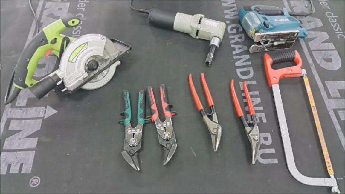 Инструменты для резки сайдинга