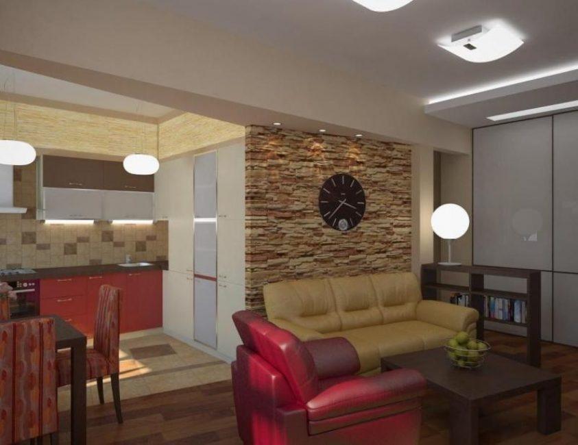 Прекрасный интерьер гостиной