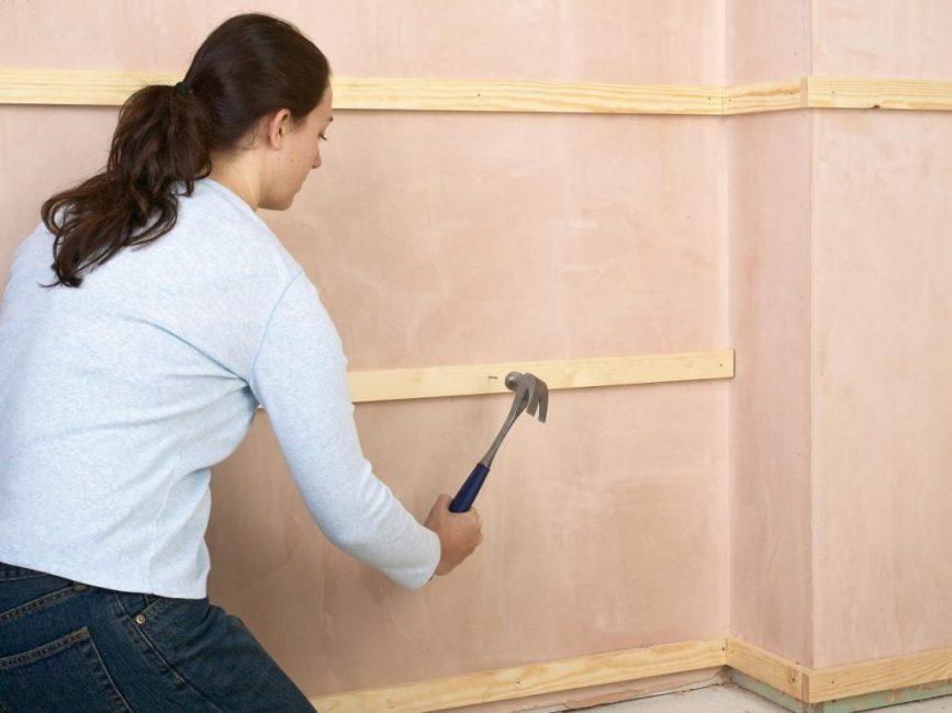 Установка стеновых панелей