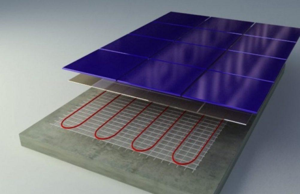 Схема монтажа нагревательного мата
