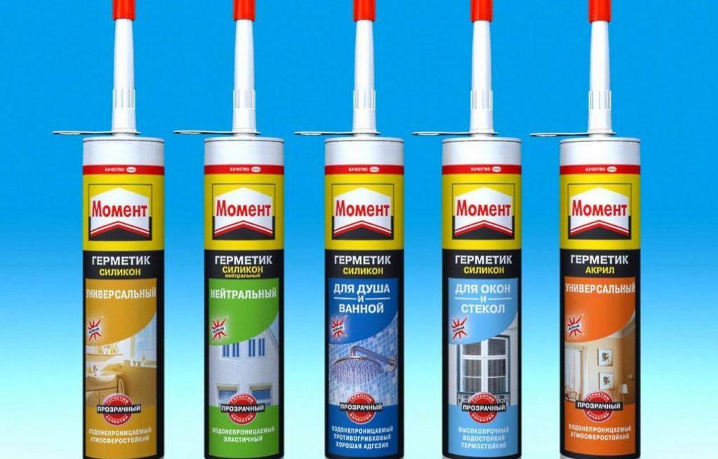 Герметизирующие составы бренда Момент представлены на рынке стройматериалов широкой линейкой продукции