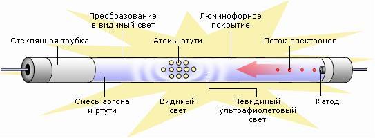 принцип действия люминесцентных ламп