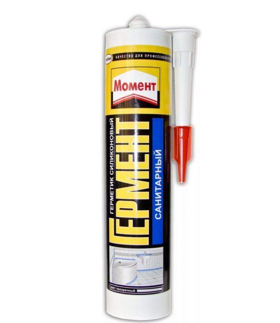 Санитарные герметизирующие продукты чаще всего прозрачны или имеют белый цвет