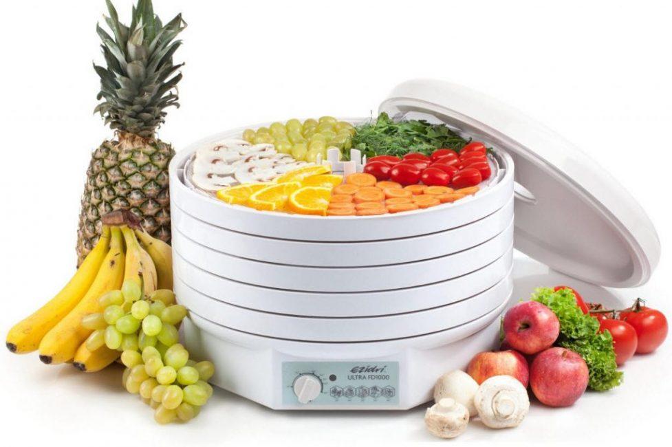 Позволяет сушить разные фрукты и овощи