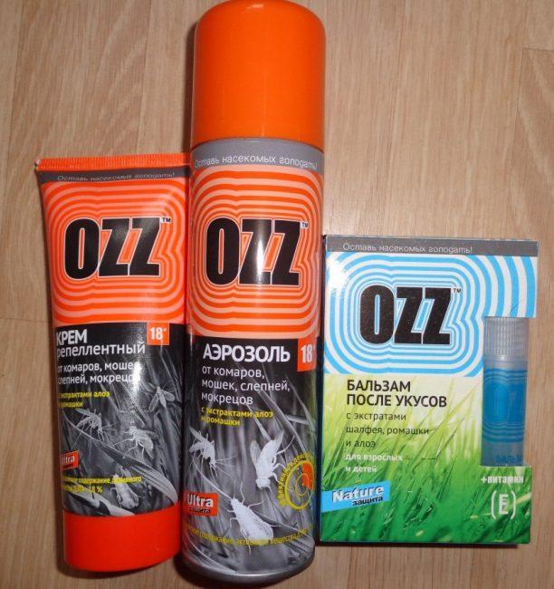 Средства фирмы OZZ
