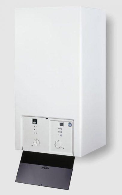 Модель имеет стандартный дизайн – корпус из белого пластика с регулирующими вентилями на передней панели