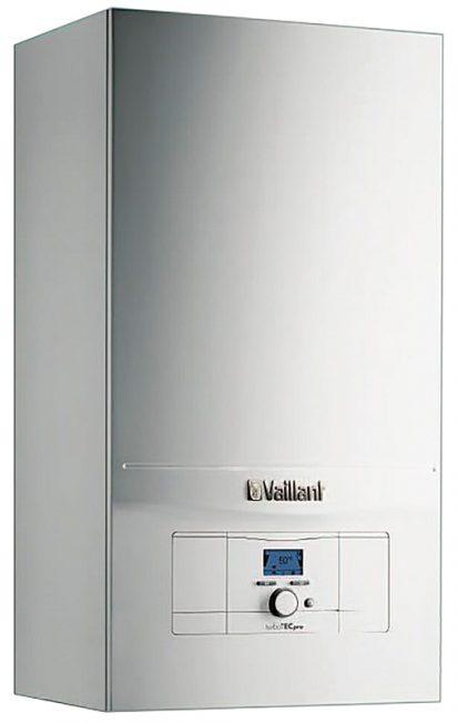 Котел Vaillant turboTEC pro VUW оснащен дисплеем, на котором видны параметры работы