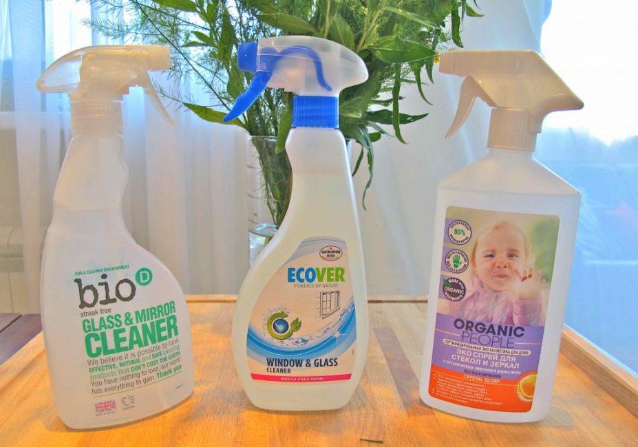 Экологичные средства для мытья окон