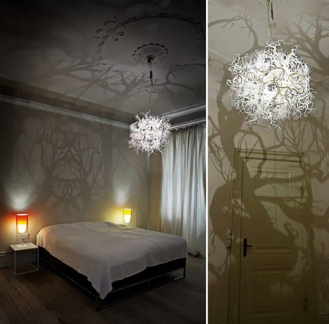 Даже такой простой предмет, как плафон на лампочке, способен создать особую атмосферу в комнате