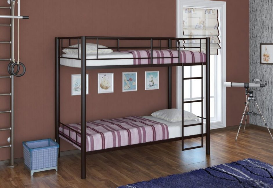 Двухъярусные кровати лучше всего подходят для детских комнат