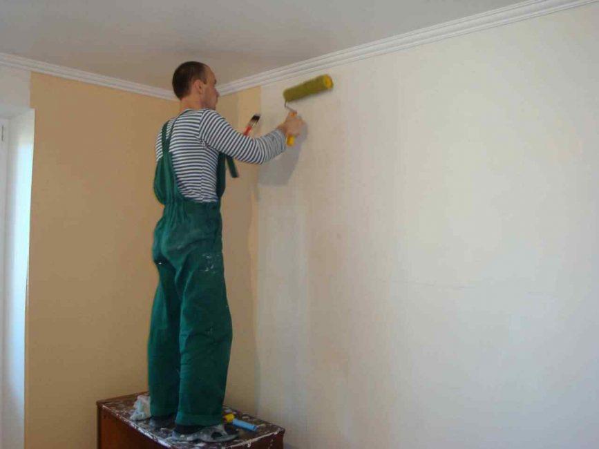 Подготовительная грунтовка стен перед выравниванием