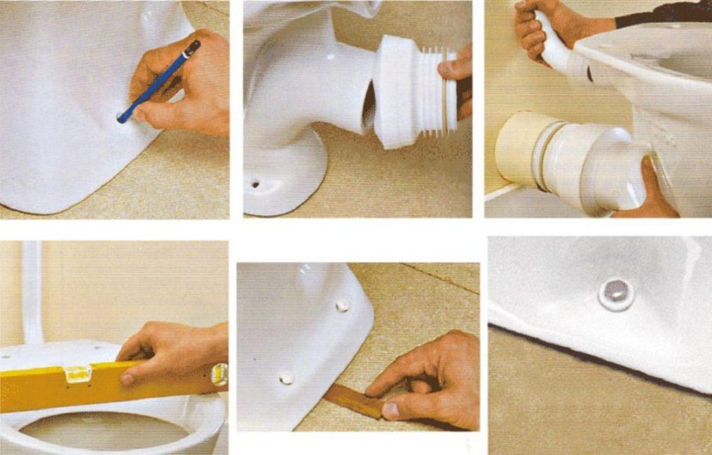 Для подвесных конструкций важно контролировать уровнем, чтобы чаша была установлена ровно