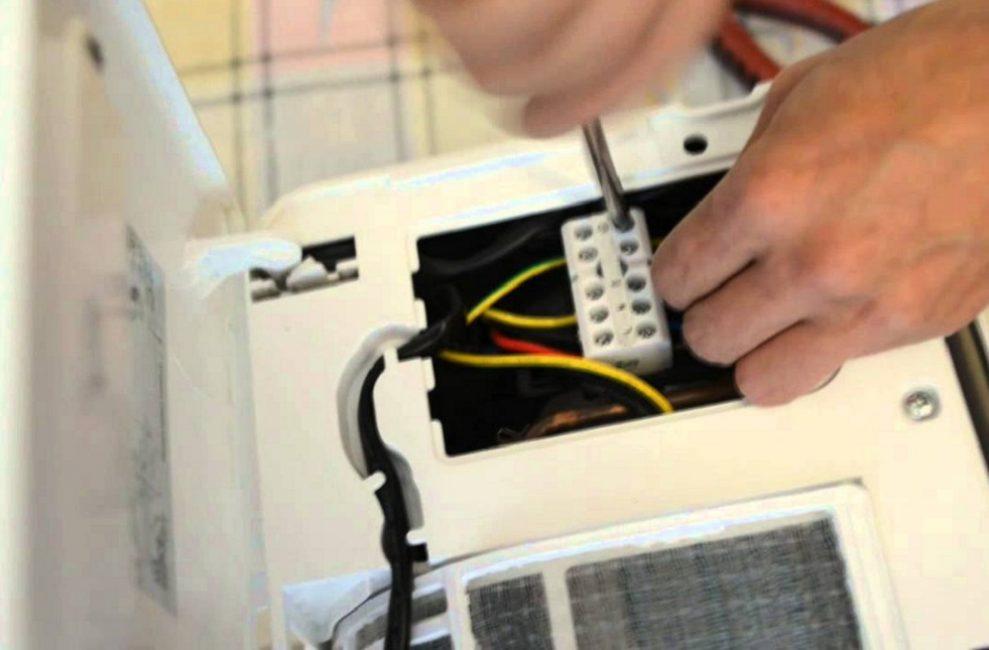 Подключение электропроводки кондиционера