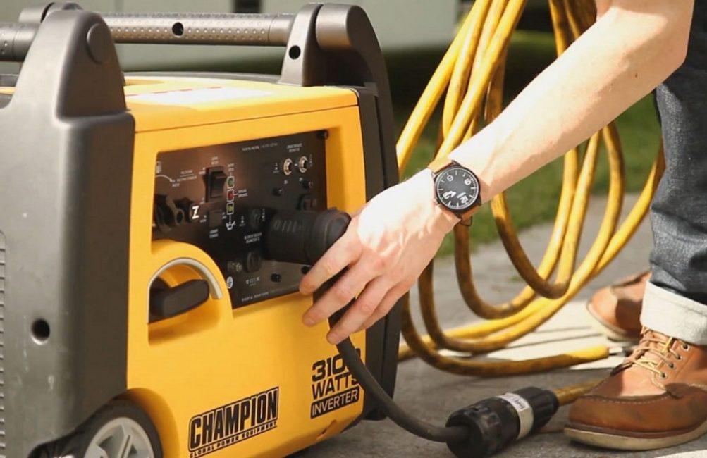 Подключение питающего кабеля к генератору