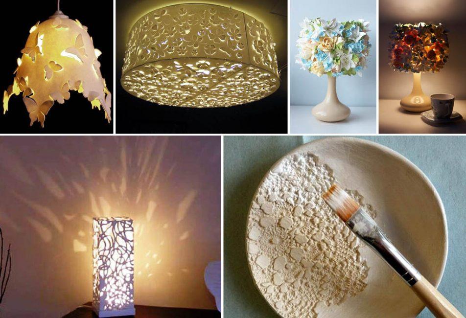 Виды самодельных абажуров для осветительных приборов