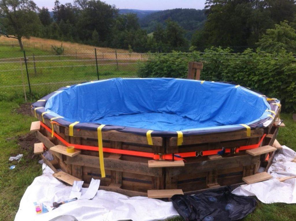 Второй вариант бассейна, изготовленного своими руками