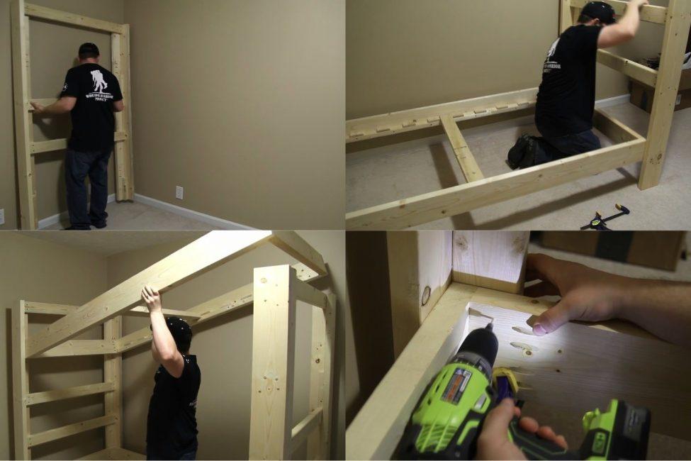 Этапы сборки деревянной конструкции пошагово