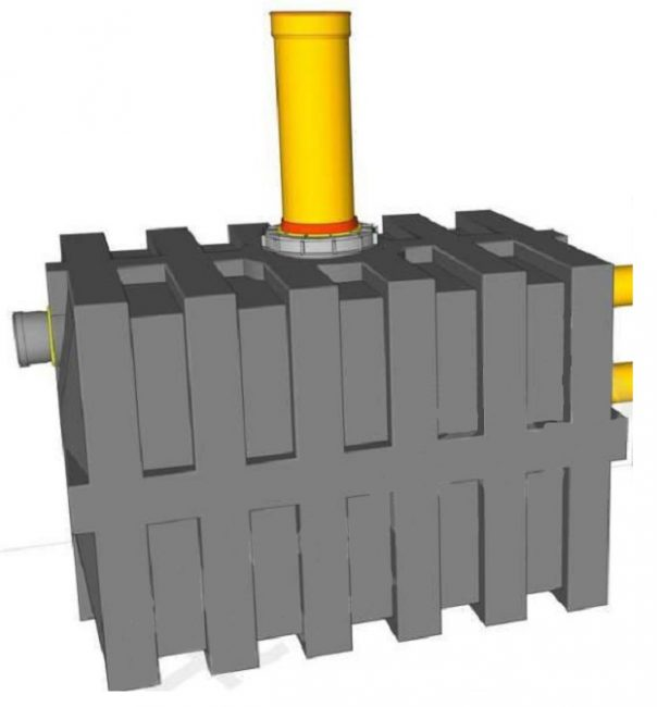 Двухсекционный пластиковый бак для стоков ЭКОНОМ T-1300L