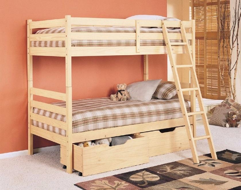 Двухъярусная кровать своими руками: как собрать функциональную мебель из дерева и металла, простые чертежи и схемы  | 80+ Фото & Видео