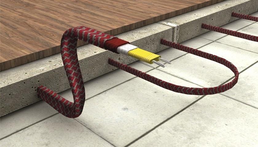 Фото нагревательного кабеля