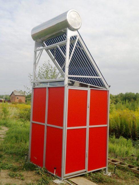 Обогрев воды солнечным коллектором