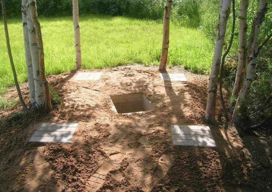Устройство дренажной ямы для слива использованной воды