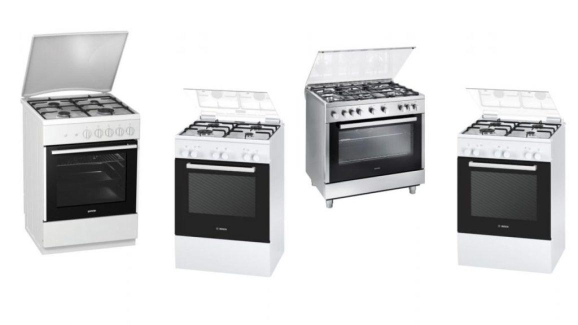 Плиты на газе обладают схожим функционалом, но отличаются качеством материалов, количеством конфорок, объёмом духовки