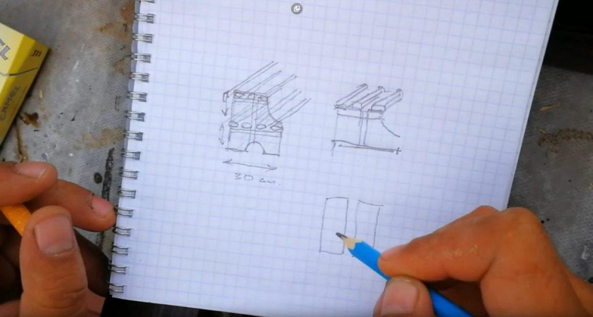 На основании этих факторов следует придумать дизайн полки и изобразить её чертёж