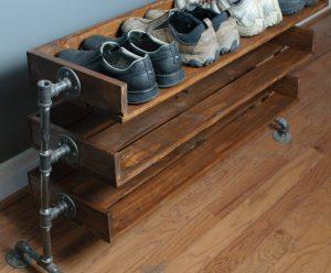 Как сделать обувную полку своими руками: простая пошаговая инструкция  | (75+ Оригинальных фото идей & Видео)