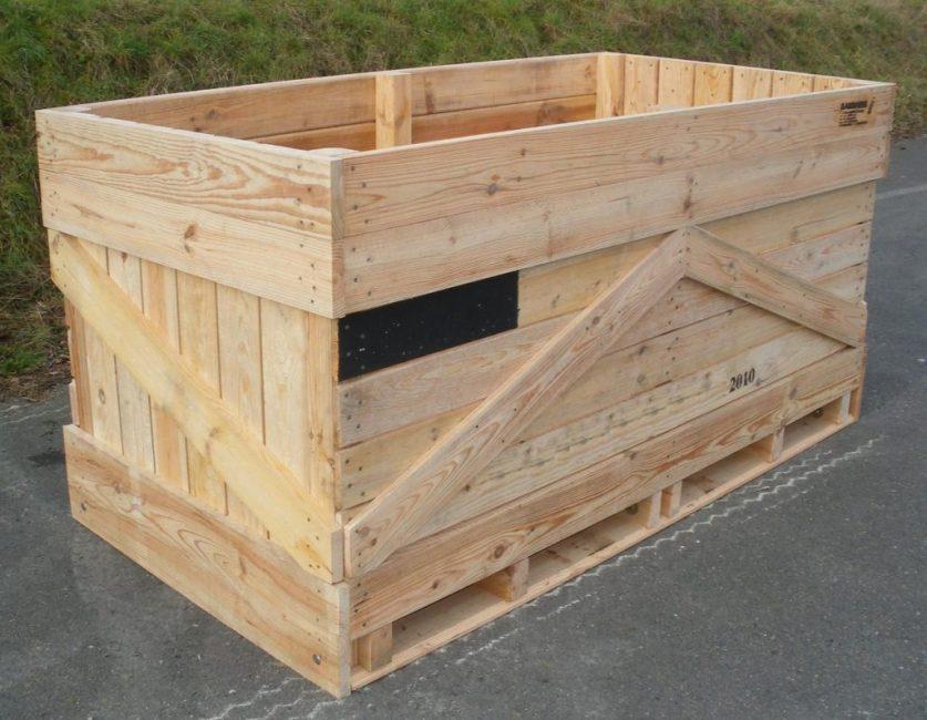 Ящик для хранения моркови с поддоном