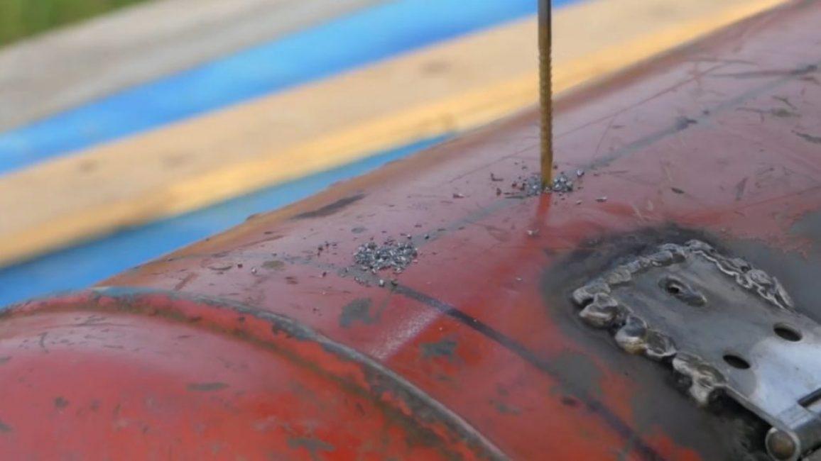 Сверление отверстий под шампуры