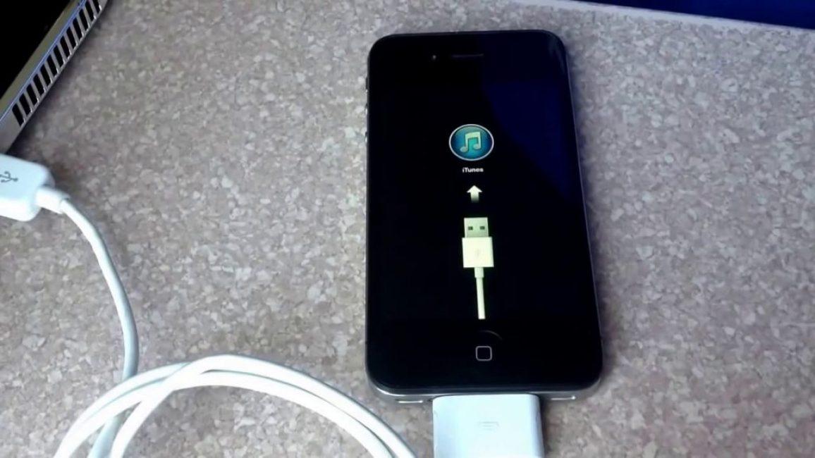 iPhone во время прошивки через iTunes
