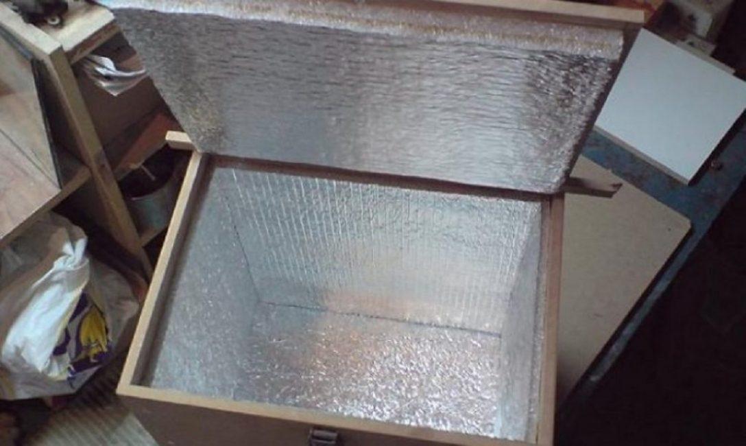 Самодельный ящик для хранения клубней с теплоизоляцией