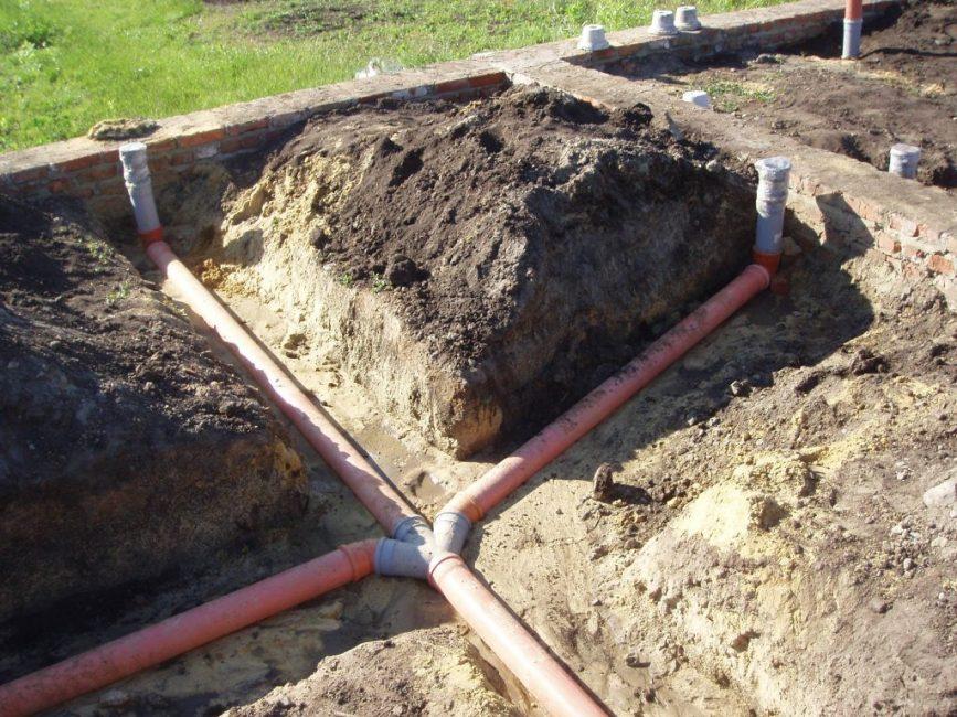 Внутренняя канализация, прокладка трубопровода