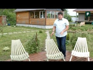 [ВИДЕО] Садовая мебель из дерева своими руками